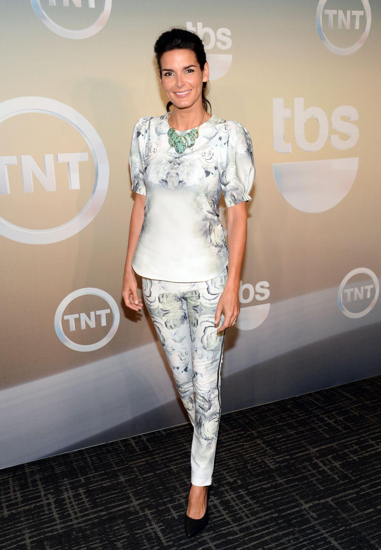 Angie Harmon Wearing Katharine Kidd at TBS & TNT Upfront 2014