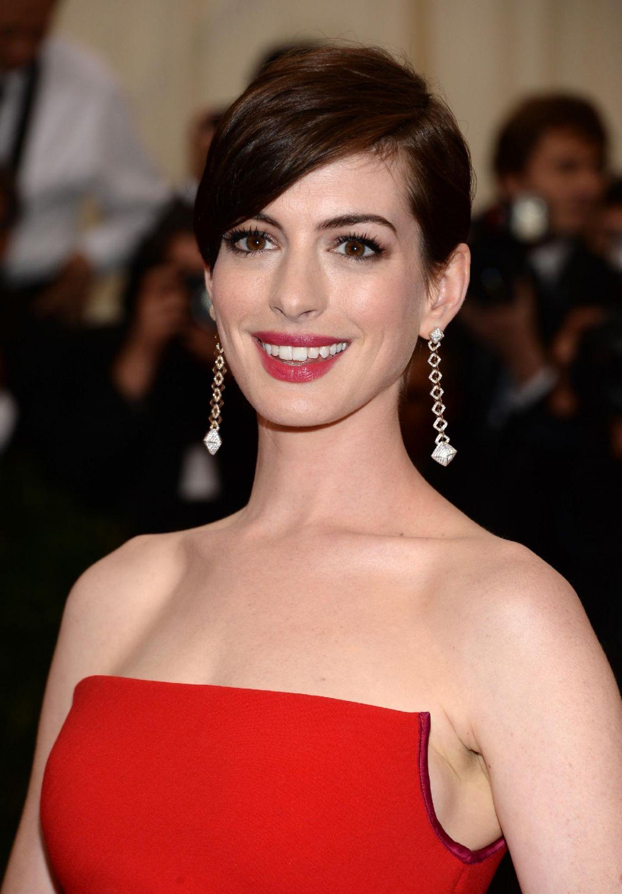 Anne Hathaway Wearing Calvin Klein Collections 2014 Met