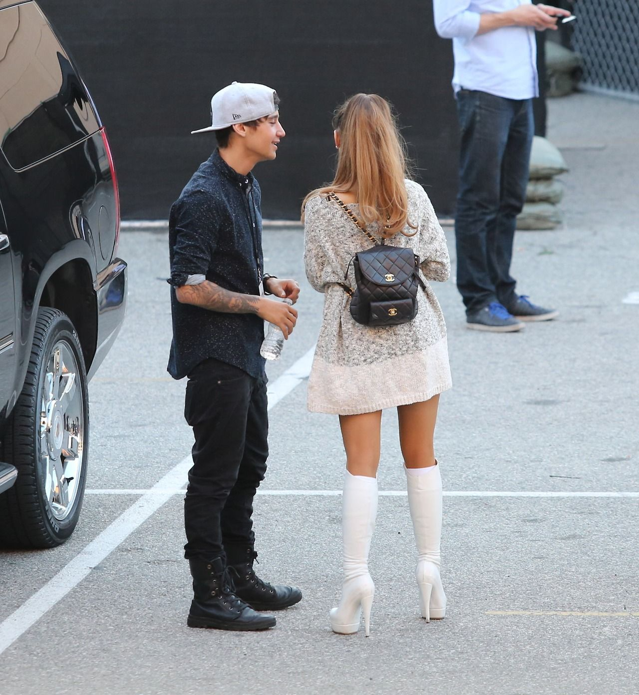 Ariana Grande Outside The Iheartradio Awards 2014 With
