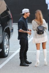 Ariana Grande Outside the IHeartRadio Awards (2014) With Boyfriend