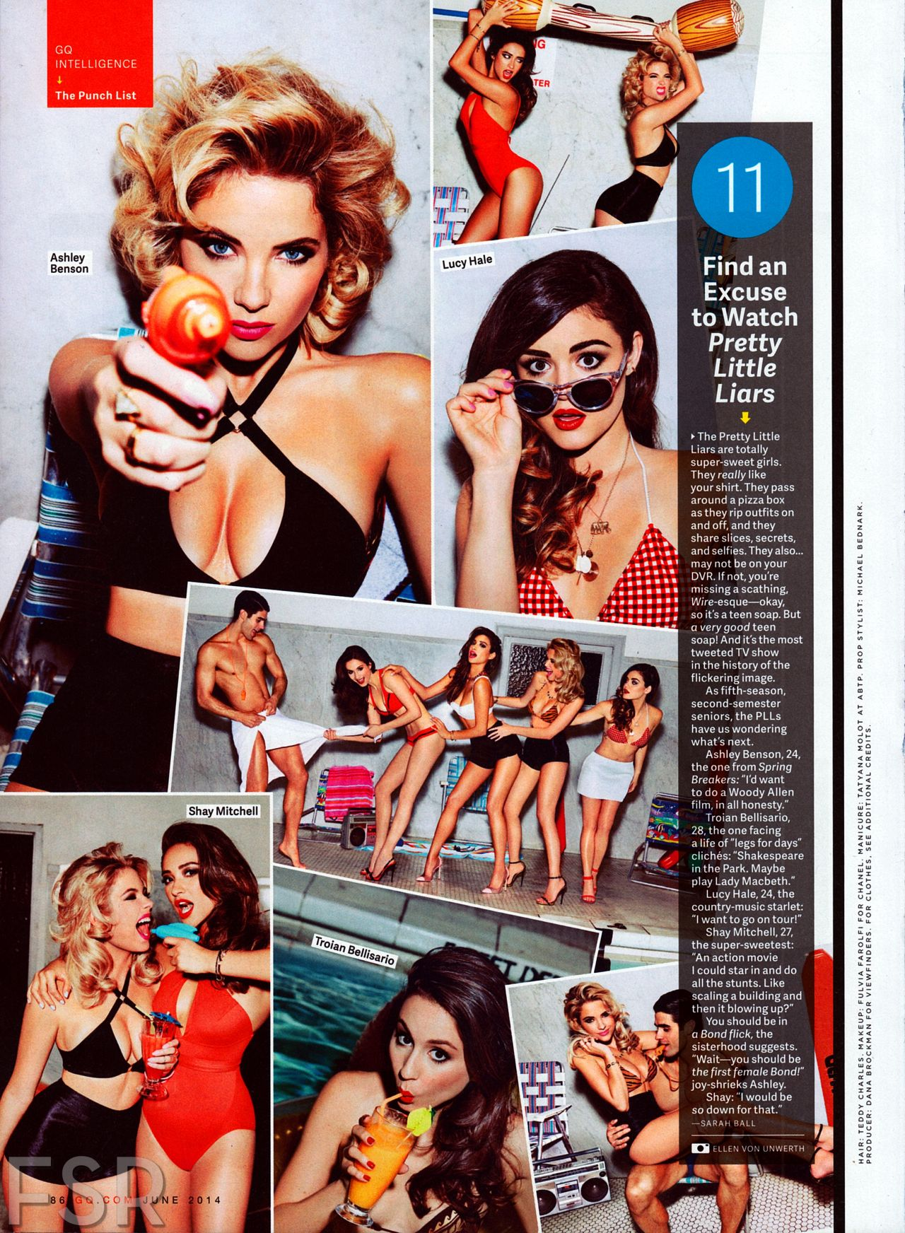 Ashley Benson, Shjay Mitchell, Lucy Hale and Troian Bellisario - GQ Magazine June 2014 Issue