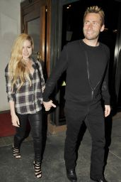 Avril Lavigne Night Out Style - Outside Madeo Restaurant in Los Angeles - May 2014