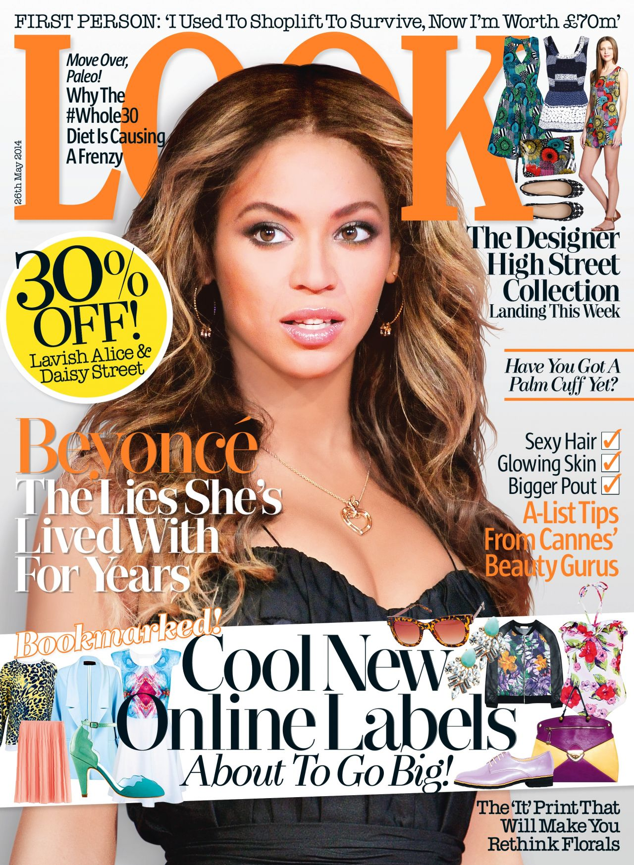 Beyonce Knowles - Look Magazine (UK) - May 26, 2014 Issue