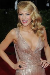 Blake Lively Wearing Gucci Gown – 2014 Met Costume Institute Gala