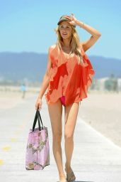 Brandi Glanville in a Bikini - Beach in Los Angeles - May 2014