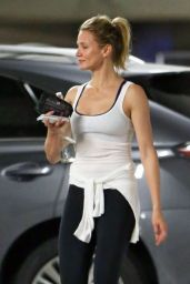 Cameron Diaz in Leggings - Leaving a Gym in West Hollywood - May 2014