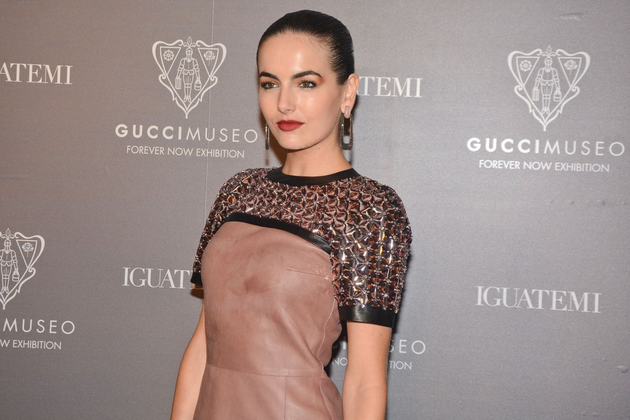 Camilla Belle Sexy Celebrity Legs: Gucci Museo Forever Now Exhibit Opening In