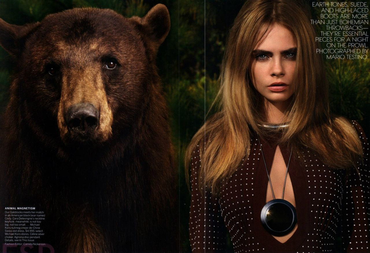 Cara Delevingne Beauty And The Beast Photoshoot June 2014