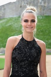 Cara Delevingne in Ralph Lauren Dress – The Duke of Cambridge Celebrates The Royal Marsden in Windsor