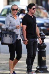 Caroline Wozniacki With Rory McIlroy in London - May 2014