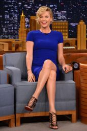 Charlize Theron at The Tonight Show Starring Jimmy Fallon - May 2014