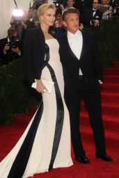 Charlize Theron in Christian Dior Black and White Gown – 2014 Met Costume Institute Gala