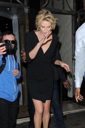 Charlize Theron in London - Outside Her Hotel - May 2014