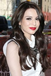 Cher Lloyd in Tight Leather Skinnies - Out in New York City - May 2014