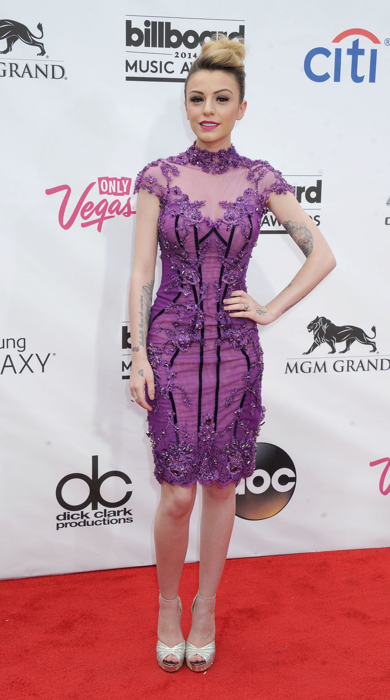 Cher Lloyd Wearing Mikael D Dress - 2014 Billboard Music Awards in ...