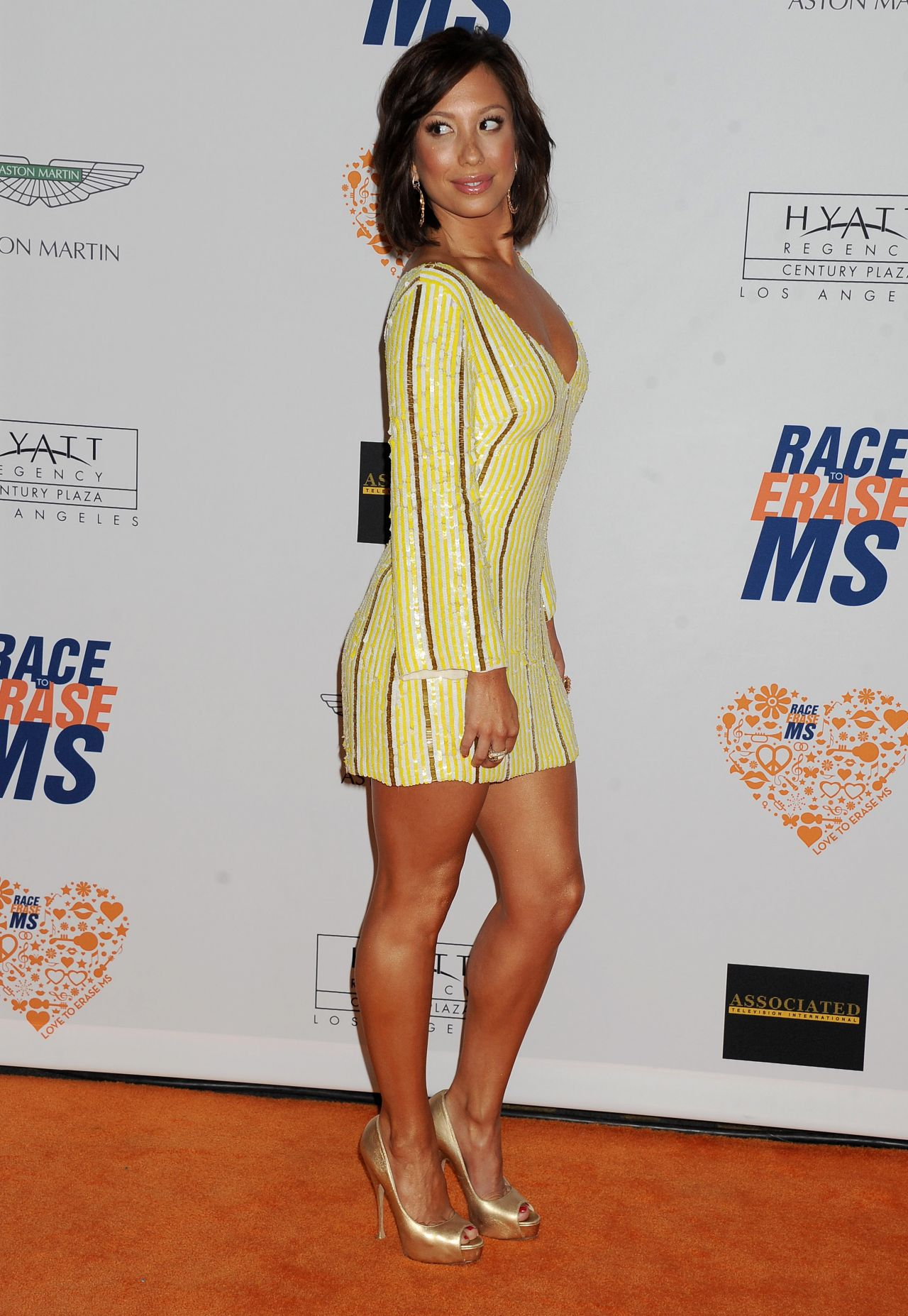 Cheryl Burke 2014 Race To Erase Ms Event In Century City