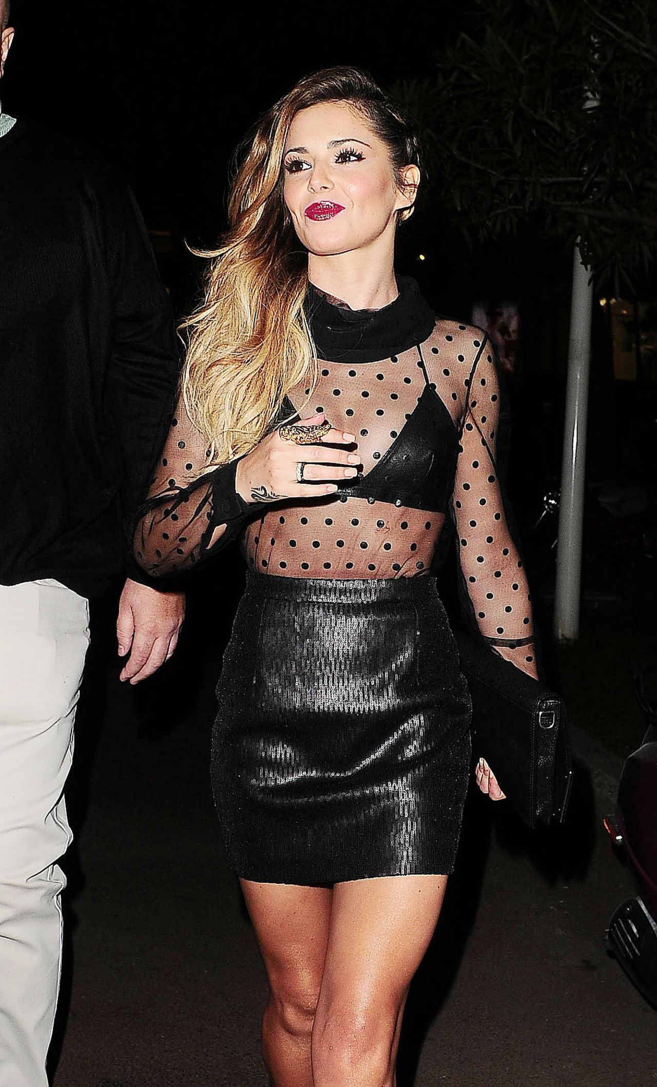 Cheryl Cole Night Out Style - Cosy Box Club in Cannes - May 2014