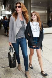 Cindy Crawford and Kaia Jordan Gerber at LAX Airport - May 2014