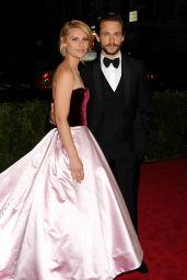 Claire Danes in Oscar de la Renta Satin Ball Gown – 2014 Met Costume Institute Gala