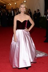 Claire Danes in Oscar de la Renta Satin Ball Gown – 2014 Met Costume Institute Gala
