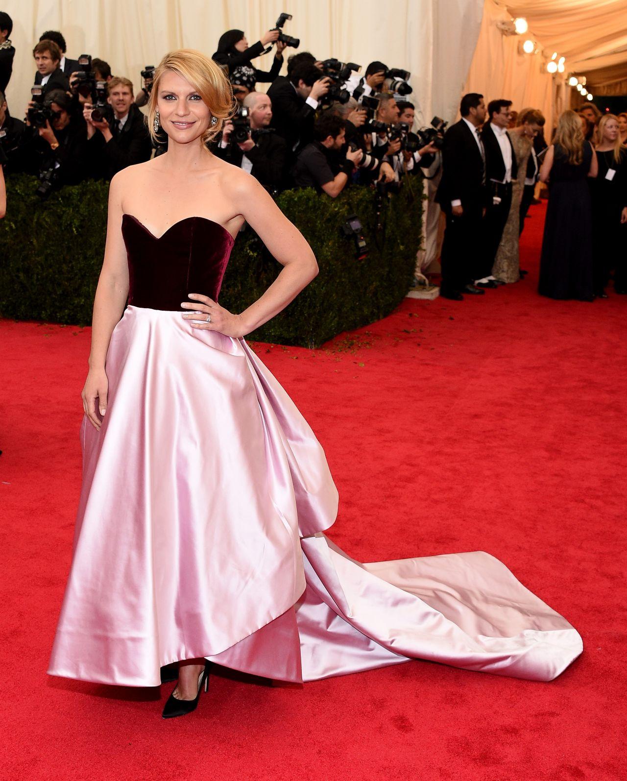 Claire Danes Met Gala: Claire Danes In Oscar De La Renta Satin Ball Gown