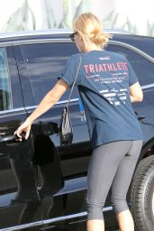 Claire Holt in Tights - Leaving a Gym on West Hollywood - May 2014