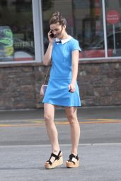 Crystal Reed in Mini Dress - Goes Shopping in Hollywood - May 2014