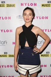 Crystal Reed – Nylon Magazine Music Issue party in Los Angeles – May 2014