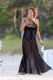 Daisy Fuentes in a Swimsuit at a Miami Beach - May 2014