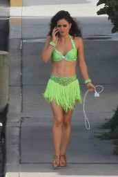 Danica McKellar - Stops by the Set of DWTS in Los Angeles - May 2014