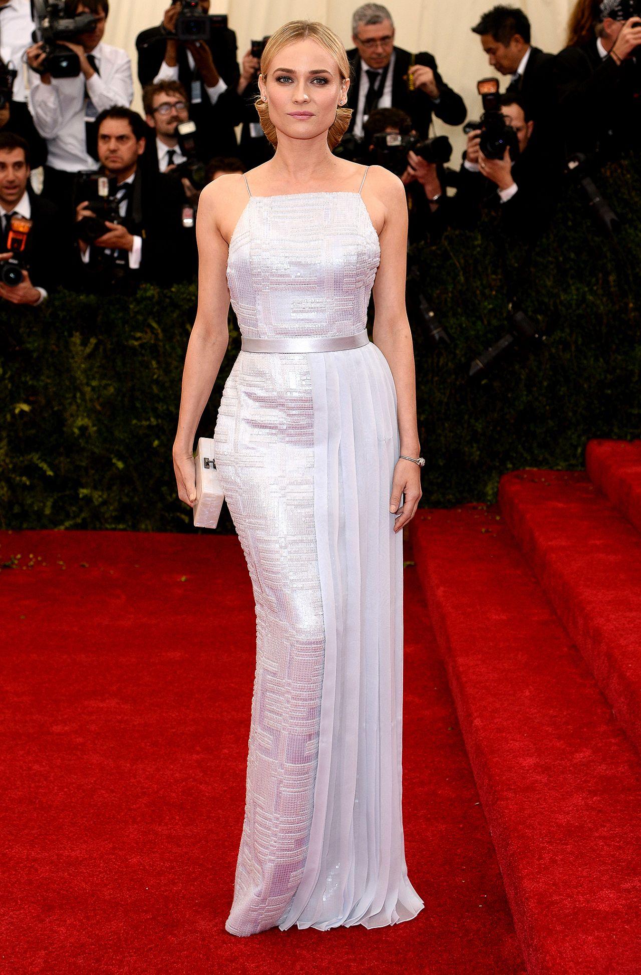 Diane Kruger Hugo Boss Gown – 2014 Met Costume Institute Gala