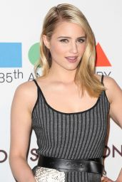 Dianna Agron in Louis Vuitton Asymmetrical Knit Dress- MOCA