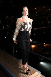Dita Von Teese – Roberto Cavalli Hosts Annual Party Aboard His Yacht – 2014 Cannes Film Festival