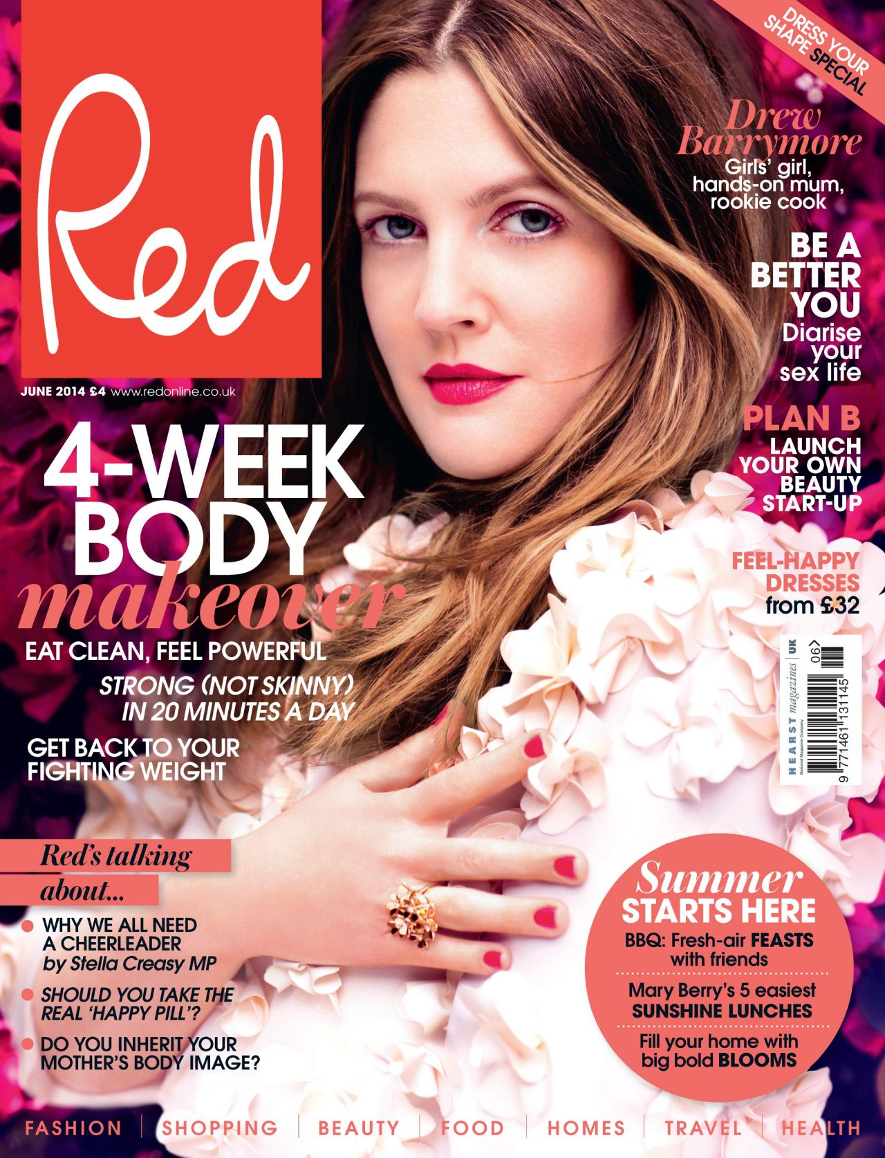 Drew Barrymore - Red Magazine (UK) June 2014 Cover