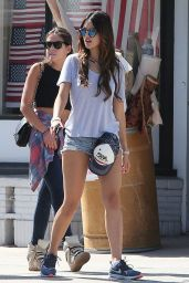 Eiza Gonzalez in Denim Shorts at Kings Road Cafe in Los Angeles - May 2014