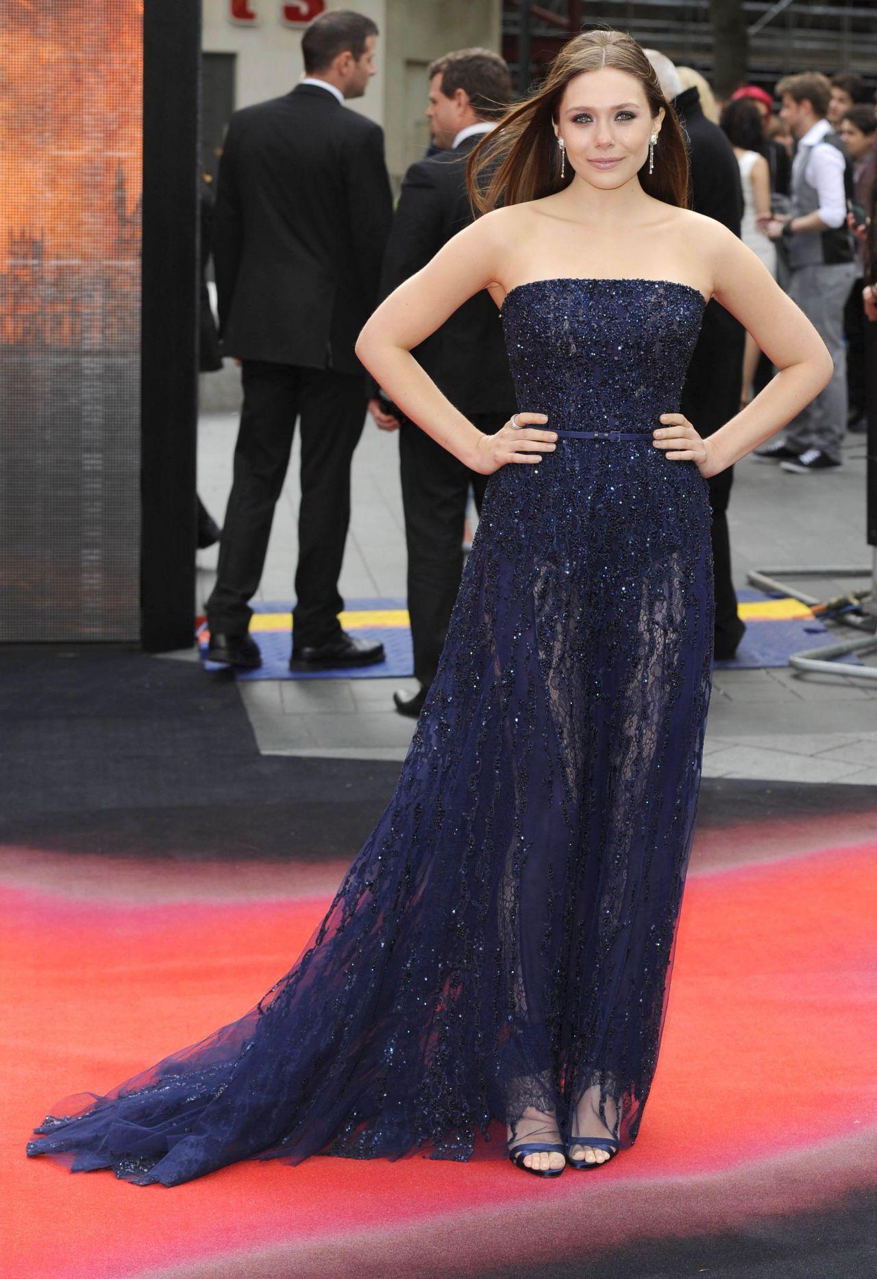Elizabeth Olsen Godzilla Premiere In London