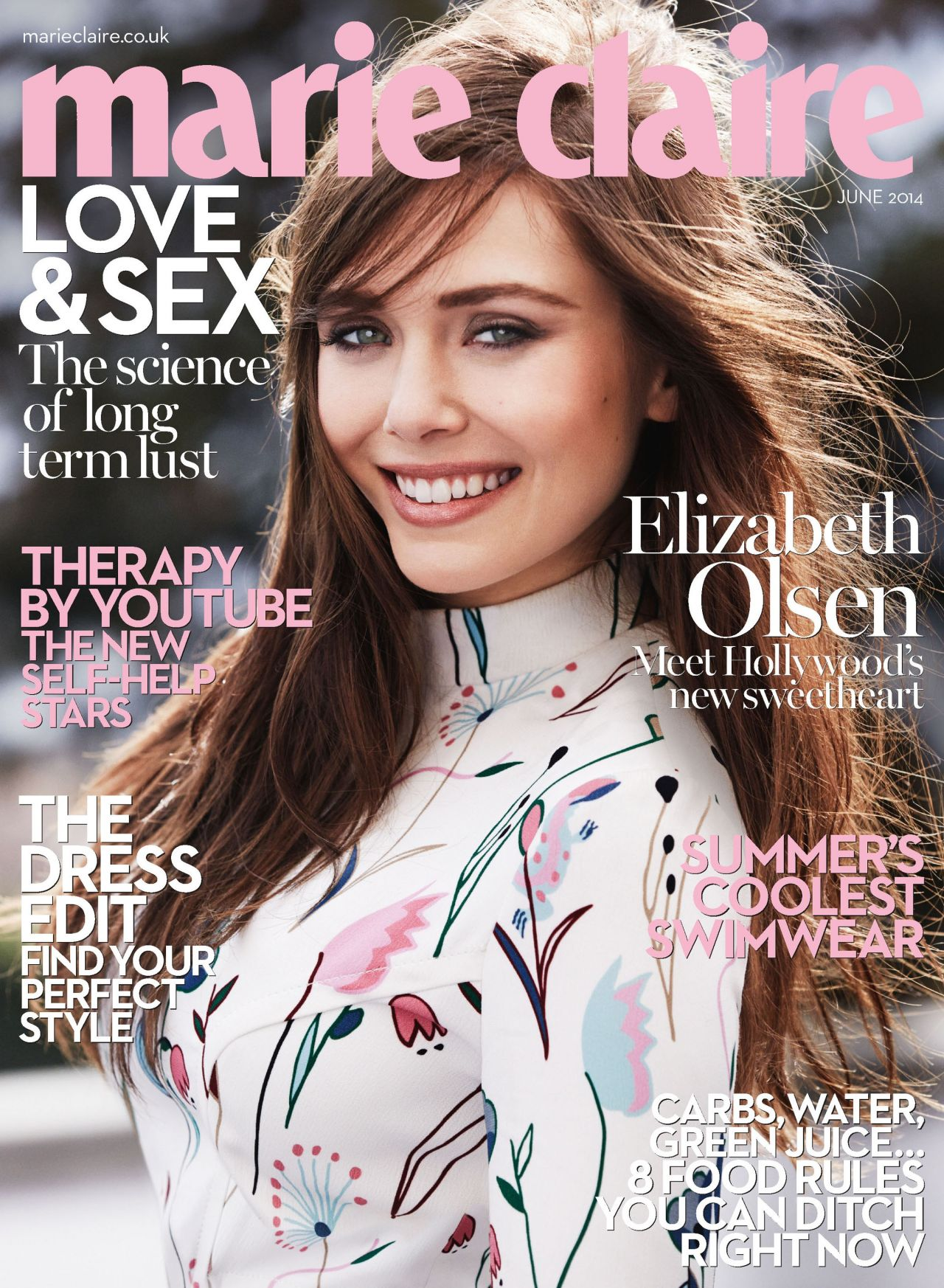 Elizabeth Olsen - Marie Claire Magazine (UK) June 2014 Cover