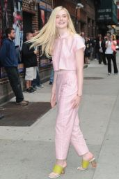 Elle Fanning at the Late Show with David Letterman, New York City, May 2014