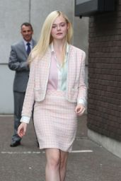 Elle Fanning Style - Leaving ITV Studios in London - May 2014