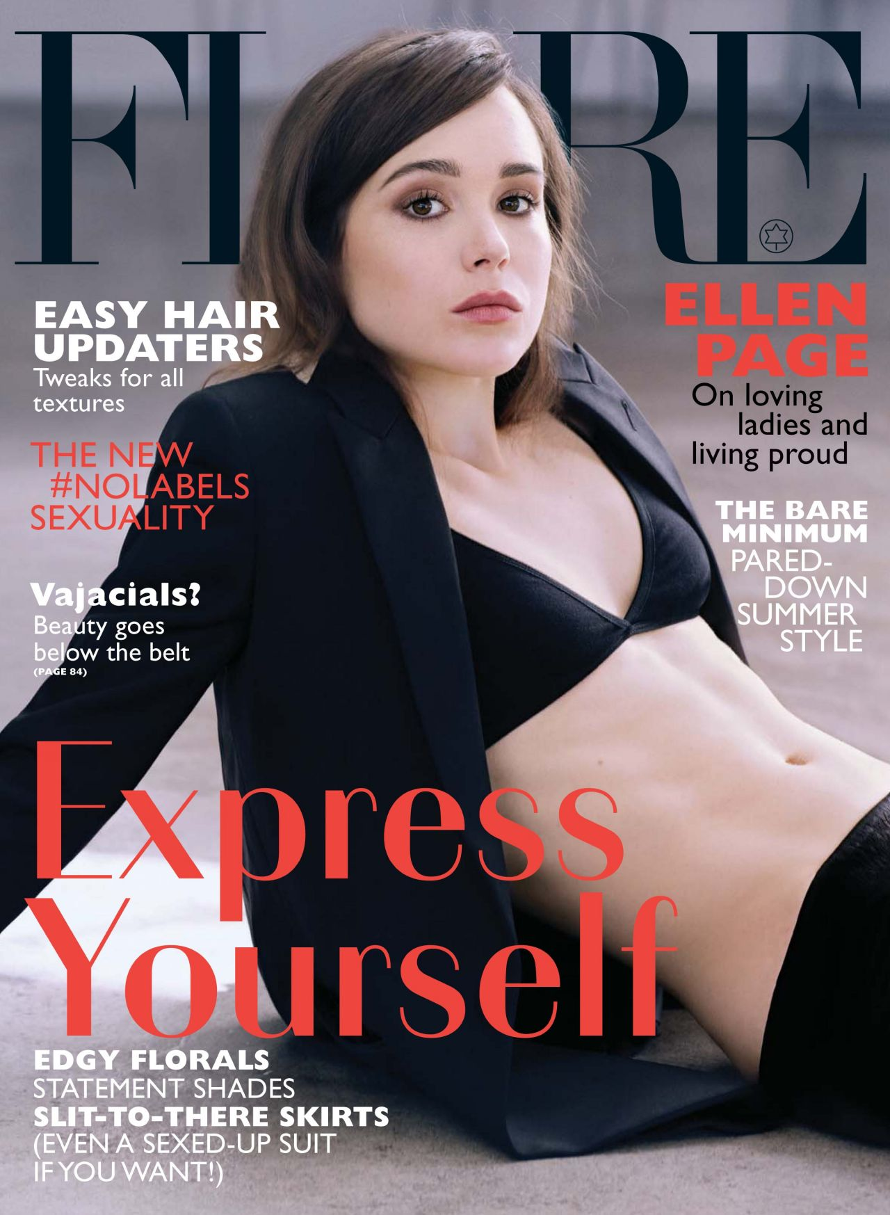 Ellen Page - Flare Magazine June 2014 Issue