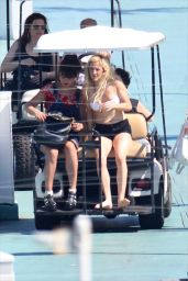 Ellie Goulding in a Bikini and Swimsuit on a Yacht in Miami - May 2014