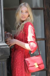 Elsa Hosk Casual Style - Enters a Building in Tribeca - New York City