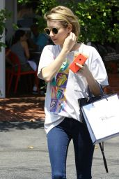 Emma Roberts in Jeans - Getting Coffee in West Hollywood - May 2014