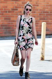 Emma Roberts in Mini Dress - Out in Los Angeles - May 2014