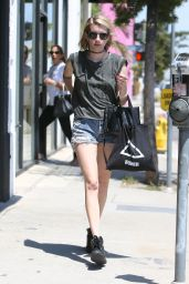 Emma Roberts in Shorts - Out in Los Angeles - May 2014