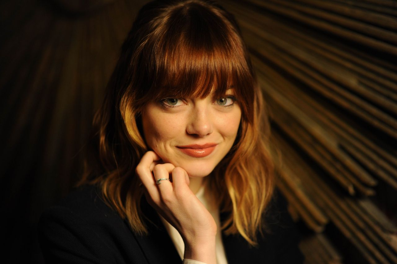 Emma Stone - Portraits for USA Today (2014) - Robert Deutstch