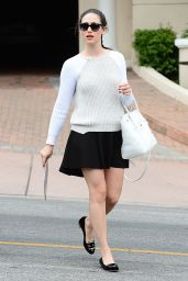 Emmy Rossum in Mini Skirt - Out in West Hollywood - May 2014