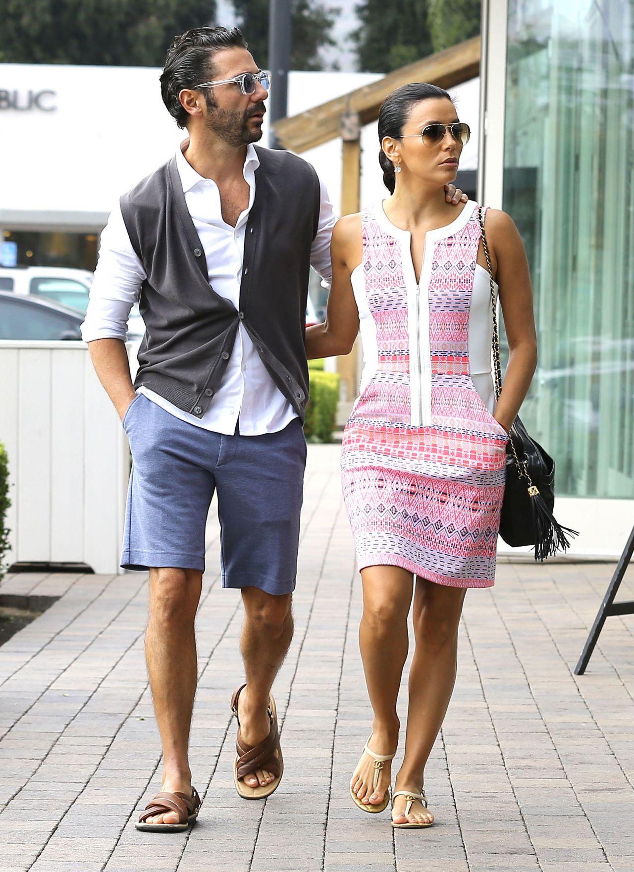 Eva Longoria Casual Style Shopping In Malibu May 2014