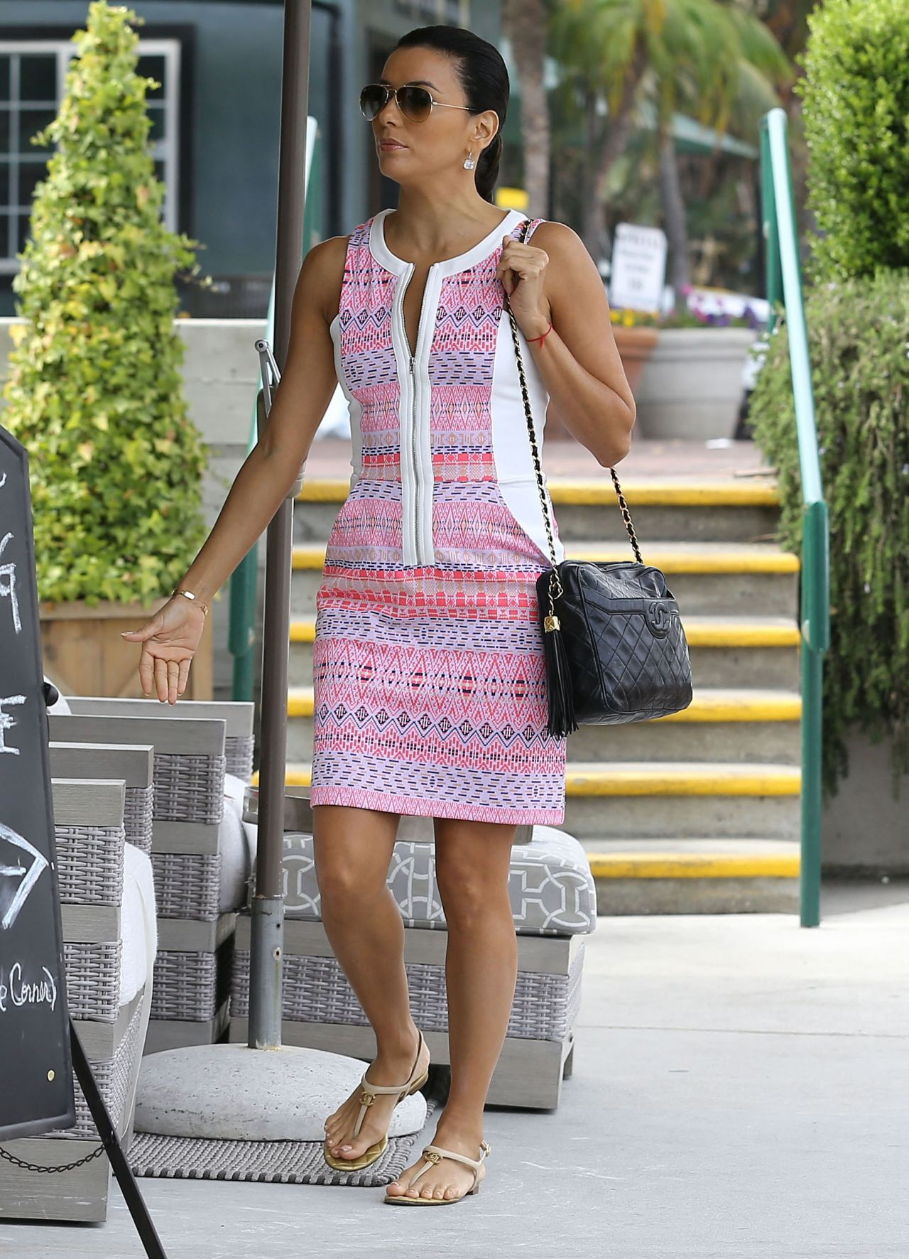 Eva Longoria Casual Style Shopping In Malibu May 2014