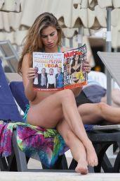 Ferne McCann in a Bikini By the Pool in Marbella Spain - April 2014